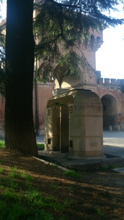 Porta Saragozza is home to a kind of relic: the last public pissoir.